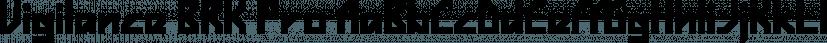 Vigilance BRK Pro font family by CheapProFonts