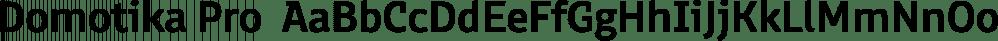 Domotika Pro  font family by Zetafonts