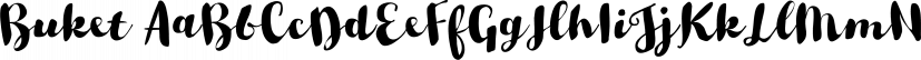 Buket font family by Ahmet Altun