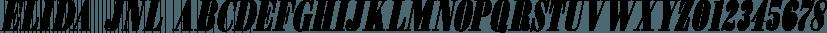 Elida JNL font family by Jeff Levine Fonts