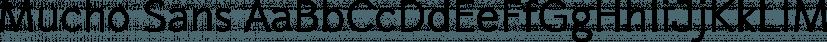 Mucho Sans font family by Fontforecast