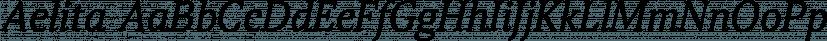 Aelita font family by ParaType