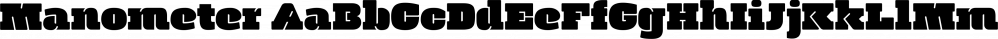 Manometer font family by Fontador