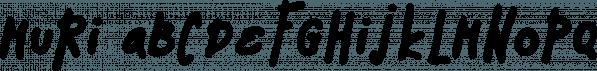 Muri font family by Konstantina Louka