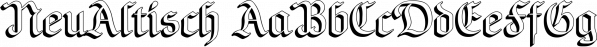 NeuAltisch font family by Ingrimayne Type