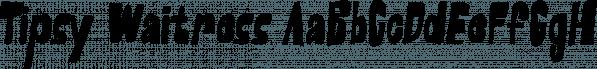 Tipsy Waitress font family by Saja TypeWorks