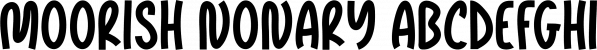 Moorish Nonary font family by Seemly Fonts