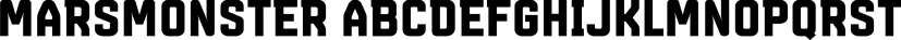 Marsmonster font family by Büro Sequenz