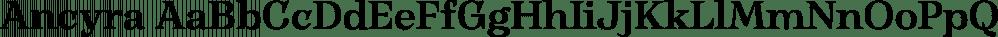 Ancyra font family by Hurufatfont Type Foundry
