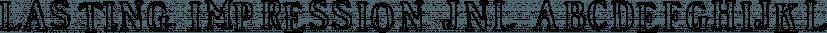 Lasting Impression JNL font family by Jeff Levine Fonts