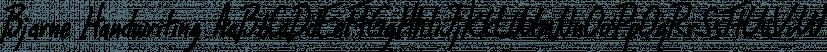 Bjarne Handwriting font family by SoftMaker
