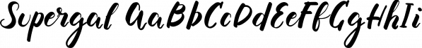 Supergal font family by Konstantina Louka