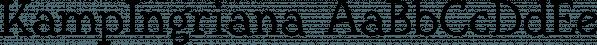 KampIngriana font family by Ingrimayne Type