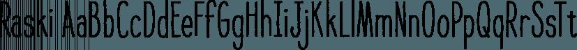 Raski font family by Pixilate