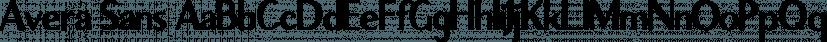 Avera Sans font family by Tom Chalky