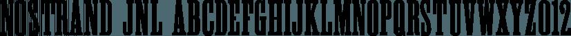 Nostrand JNL font family by Jeff Levine Fonts