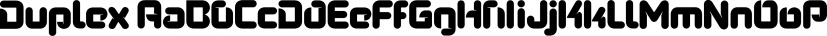 Duplex font family by Fontfabric