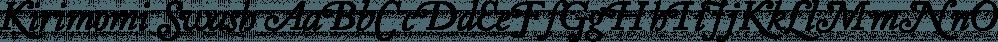 Kirimomi Swash font family by Wordshape
