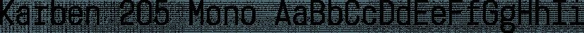 Karben 205 Mono font family by Talbot Type