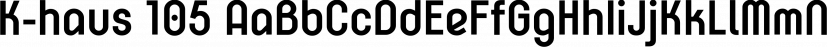 K-haus 105 font family by Talbot Type