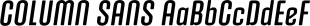 COLUMN SANS font family mini