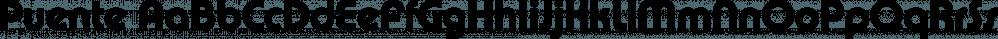 Puente font family by FontSite Inc.