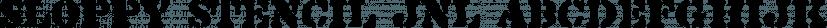Sloppy Stencil JNL font family by Jeff Levine Fonts