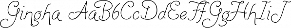 Gingha font family by La Lettre de Luxe