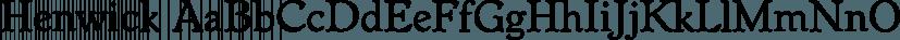 Henwick font family by FontSite Inc.