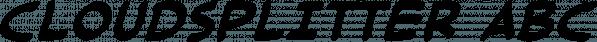 Cloudsplitter font family by Blambot