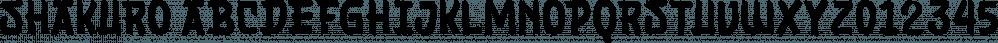 Shakuro font family by Letterhend Studio