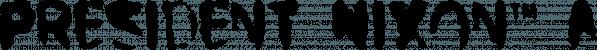 President Nixon™ font family by MINDCANDY