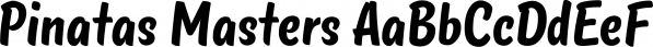 Pinatas Masters font family by Piñata