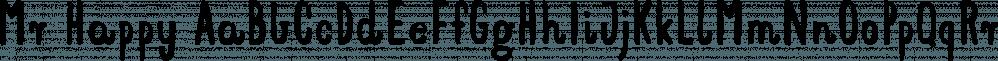 Mr Happy font family by Hipopotam Studio