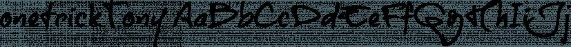 onetrickTony font family by JOEBOB Graphics