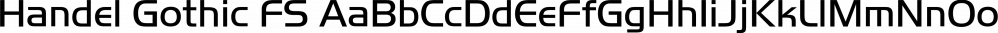 Handel Gothic FS font family by FontSite Inc.