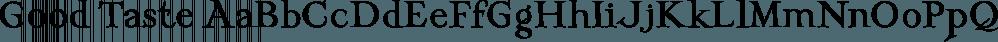 Good Taste font family by Grummedia