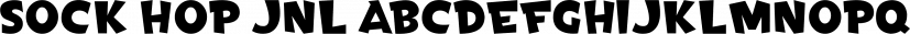 Sock Hop JNL font family by Jeff Levine Fonts