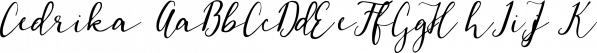 Cedrika font family by Tabitazn
