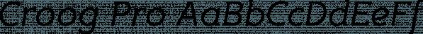 Croog Pro font family by TipografiaRamis