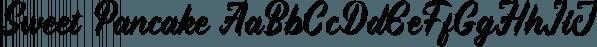 Sweet Pancake font family by Locomotype