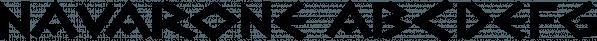Navarone font family by Stiggy & Sands