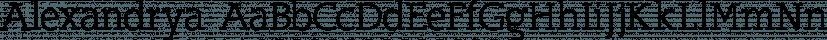 Alexandrya font family by Hackberry Font Foundry