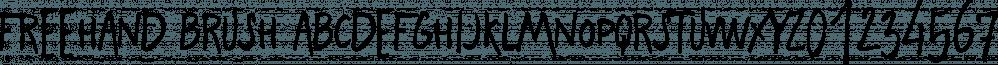 Freehand Brush font family by Zetafonts