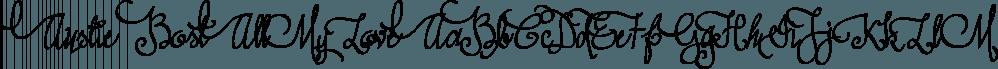 Austie Bost All My Love font family by Austie Bost Fonts