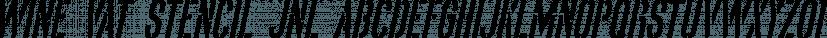 Wine Vat Stencil JNL font family by Jeff Levine Fonts