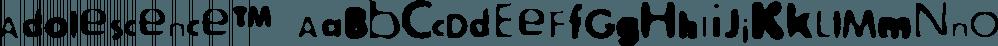 Adolescence™ font family by MINDCANDY