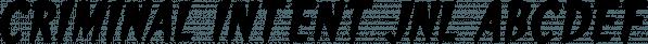 Criminal Intent JNL font family by Jeff Levine Fonts