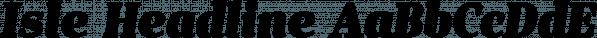 Isle Headline font family by Måns Grebäck
