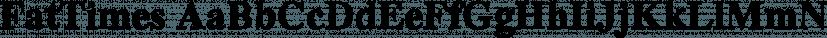 FatTimes font family by Wiescher-Design